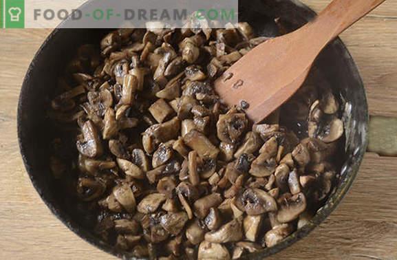 Пржени печурки со кромид: вистинската технологија за готвење. Чекор-по-чекор фото-рецепт за готвење шампињони со кромид