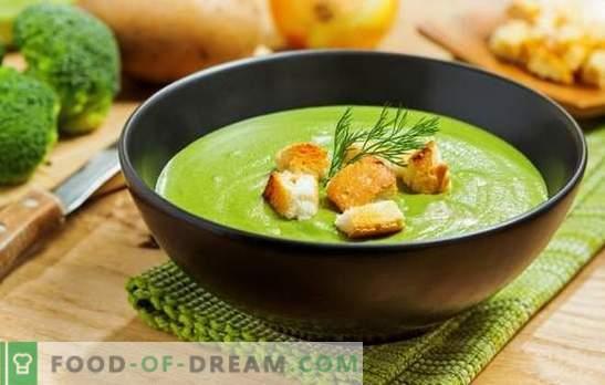 супа од пиперки од брокула - за здравје, ум и прекрасна фигура. Рецепти за крем супи со брокули со крем, сирење, пилешко, печурки