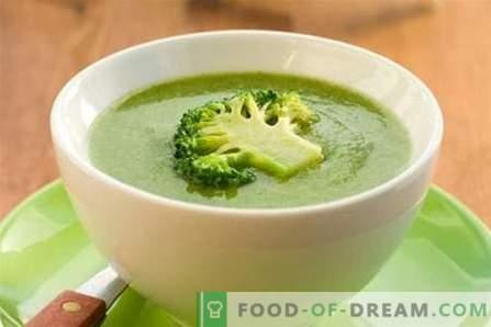 Супа од брокула - најдобри рецепти. Како правилно и вкусно да готви супа од брокула.