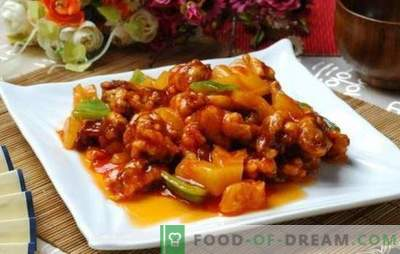 Fleisch in süß-saurer Sauce auf Chinesisch ist eine Legende! Fleischrezepte in chinesischer süß-saurer Sauce mit Ananas, Gemüse, Teriyaki