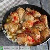 Апетитирање пржено пиле со сос од орев