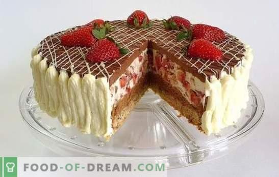 Ciasto czekoladowe z truskawkami - marzenie o słodyczy! Przepisy na czekoladowe ciasto truskawkowe na domowe napoje herbaciane