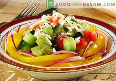 Салата со кромид - докажани рецепти. Како правилно и вкусно да се готви салата со кромид.