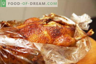 Зголемете го ракавот - најдобриот рецепт. Како да се готви и правилно гуска во ракавот.