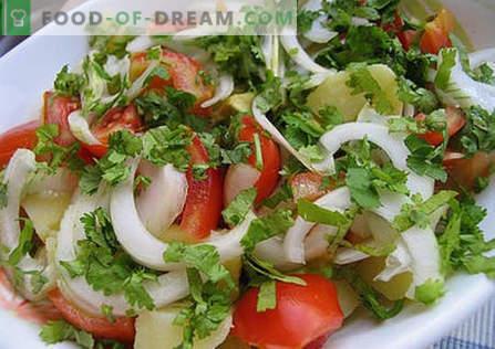 Летна салата - најдобри рецепти. Како правилно и вкусно да се подготви летна салата.