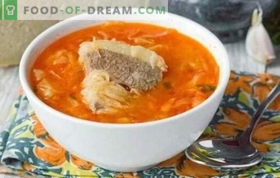 Супа во месо од супа - секогаш е точно! Готвење мирисна, вкусна супа во месо супа од свежи и кисела зелка според најдобрите рецепти