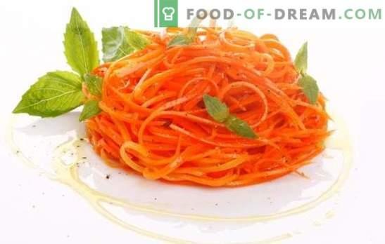 Carottes à l'ail: comme d'habitude, rapidement et aussi utile que possible. Recettes pour l'hiver, plats d'accompagnement et salades de carottes à l'ail