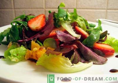 Салата со балсаменски оцет - докажани рецепти. Како да се готви салата со балсаменски оцет.