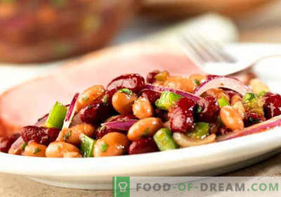 Салата од црвен грав - докажани рецепти. Како да се готви салата од црвен грав.