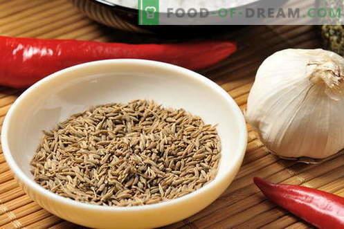 Zira - својства и употреба при готвење. Рецепти со Зира.