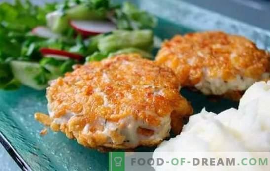 Пилешки рифови во сета своја разноликост! Рецепти за сочни и вкусни пилешки парчиња со сирење, печурки, ориз и крем сос