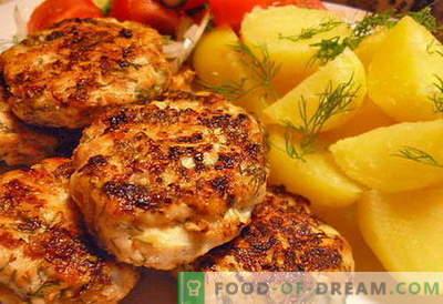 Piščančje mesne kroglice - najboljši recepti. Kako pravilno in okusno kuhati sesekljane piščančje mesne kroglice.