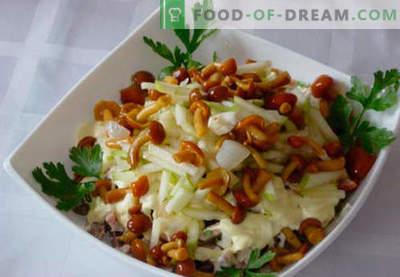 Салата со кисела печурка - пет најдобри рецепти. Како правилно и вкусно да се подготви салата со кисела печурка.