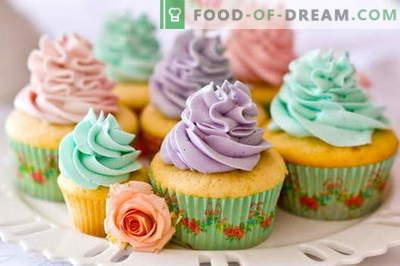 Cupcakes - како да ги готви дома. 7 најдобри рецепти домашна кекс.