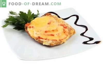 Свинско месо со сирење и домати е посебно јадење и додаток на гарнир. Најдобри рецепти на свинско месо со сирење и домати