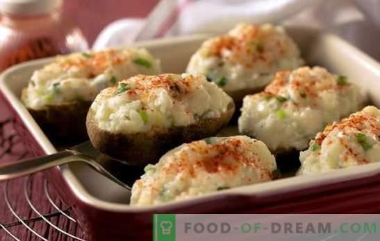 Рецепти пълнени картофи във фурната. Как и с какво можете да приготвите пълнени картофи във фурната