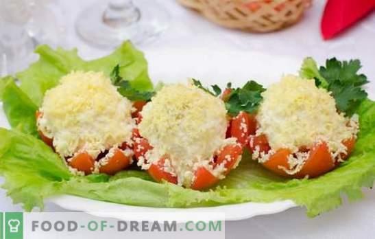 Домати со мајонез и лук - солени летни закуски. Избор на најдобри рецепти на домати со мајонез и лук