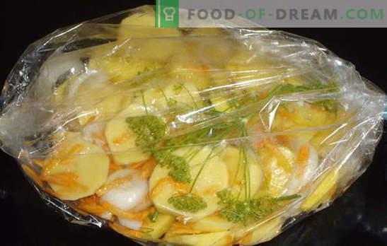 Cartofi coapte în manșonul cuptorului - grozav! Cartofii într-un pachet de prăjire în cuptor: rețete clasice și noi