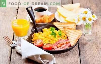 Што да се готви за појадок брзо и вкусно: здрави оброци за секој ден. Избор на брзи рецепти за појадок на наједноставните производи