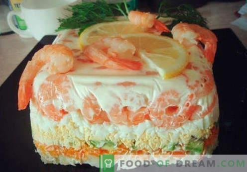 Салата - најдобри рецепти. Како правилно и вкусно да се подготви салата со торта.