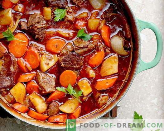 Месо со зеленчук - најдобри рецепти. Како правилно и вкусно да готви месо со зеленчук.