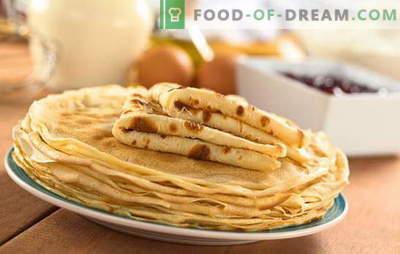 Палачинки на кефир од варена вода се омилен деликатес во новата верзија. Рецепти на отворено палачинки за јогурт со врела вода