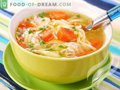 Пилешка супа во бавен шпорет - докажани рецепти. Како правилно и вкусно да се готви пилешка супа во бавен шпорет.
