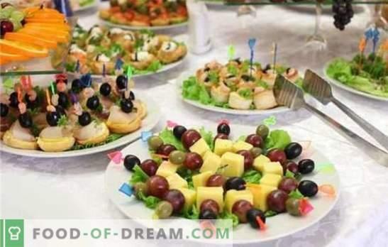 А вкусна закуска за свадба е најважниот елемент на свечената гозба. Нежни, зачинети, мирисни и елегантни свадбени закуски