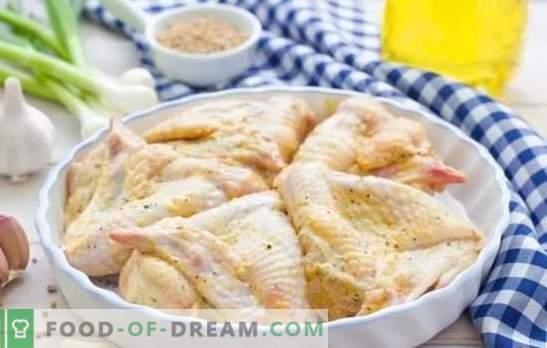 Крилја во мајонез со различни сосови. Брзо, вкусно, празнично, секогаш на нов начин - рецепти на пилешки крилца во мајонез