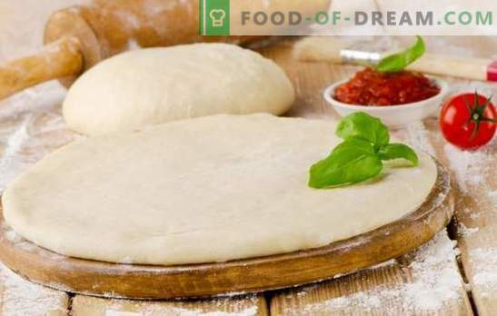 Пица тесто со млеко е вкусна основа за вкусно јадење. Готвење различни пица тесто со млеко: бујна, мека, крцкава