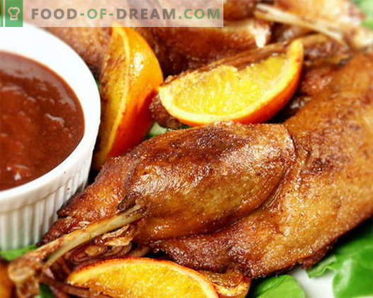 Патка печена во рерната - најдобрите рецепти. Како да готвите патка правилно во рерната.
