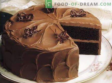 Црна торта - најдобри рецепти. Како правилно и вкусно готви Црна торта.