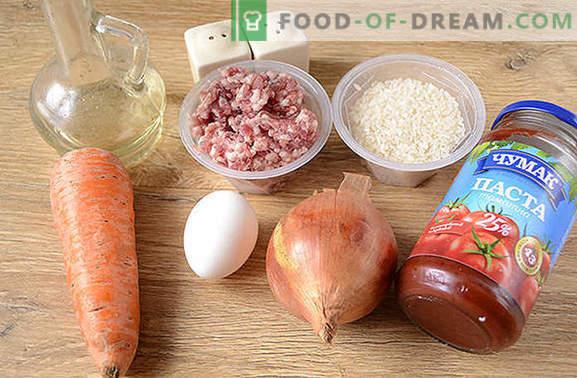 Мијалници со ориз во сос: деца љубов, возрасни љубов! Авторски чекор по чекор фото рецепт на ќофтиња со ориз во бавен шпорет