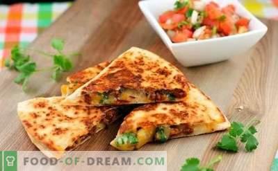 Тортила со сирење е апетитен бурито! Готвење дома мексикански тортилја со сирење со едноставни рецепти