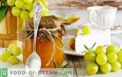 Грозје на грозје за зима - за секого! Избор на витамински препарати на грозје за зима