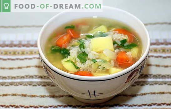 Супа со ориз и компир: брза, вкусна и здрава. Супата за готвење со ориз и компир е едноставен и брз процес