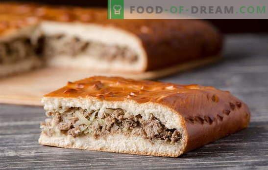 Пијалоци од месо од месо: детални рецепти. Стари традиции и нови идеи за пити со месо од месо од квасец