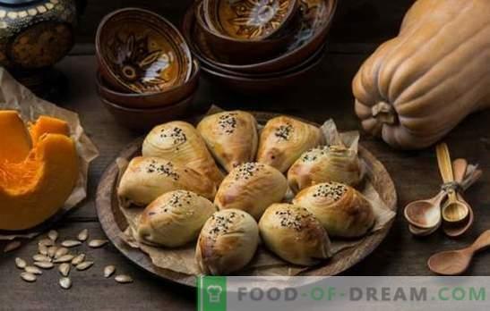 Самса со тиква - сочни триаголници! Рецепти на узбекистански и едноставни самса со тиква од различни видови тесто
