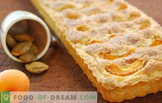 Песочна торта со кајсии - трошни и сочни! Песочна курва кајсија рецепти за вкусна чај пиење