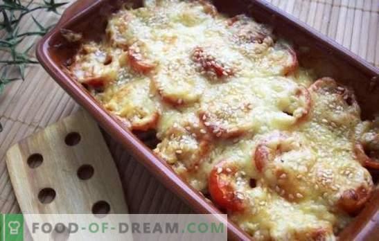 Нежен јадење - тиквички со сирење во рерната. Тиквички со сирење во рерна, со домати, печурки или пипер!