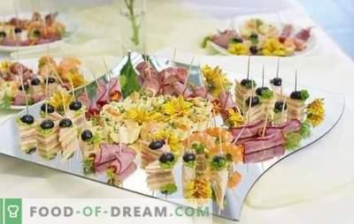 Закуски на шведска маса: риба, месо, сирење, печурка, Бери. Опциите за предјадења на табелата со вклучена маса и правилата за нивно поднесување