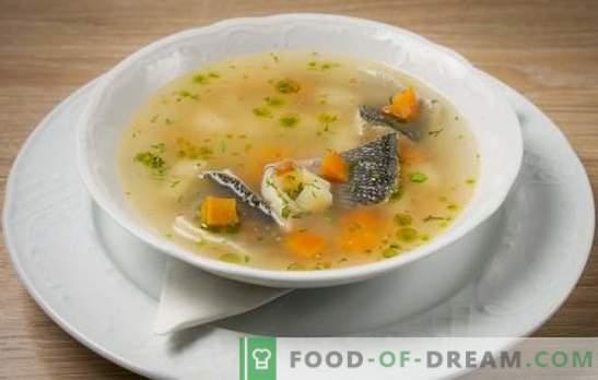 Скромни производи, брилијантен резултат - уво на речните риби. Готвење богата риба супа од реката риба во тенџере и во саксии
