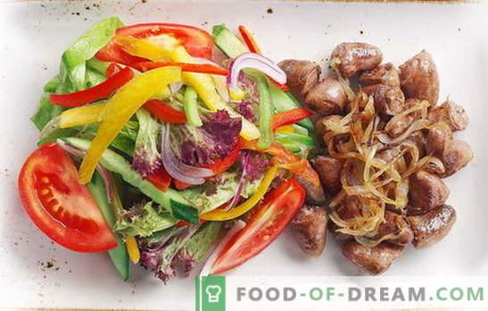 Cuori di pollo con cipolle - prelibatezza quotidiana! Ricette fritte, stufate, cuori al forno con cipolle, carote