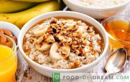 Овес во мултикукер со млеко - здрав појадок. Варијанти на овесна каша во саксија за млеко со овошје, мед, ореви