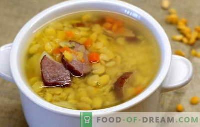 Супа од грашок со месо е многу драг на деца. Готвење грашок супа со месо е едноставен и достапен процес за секого: рецепти