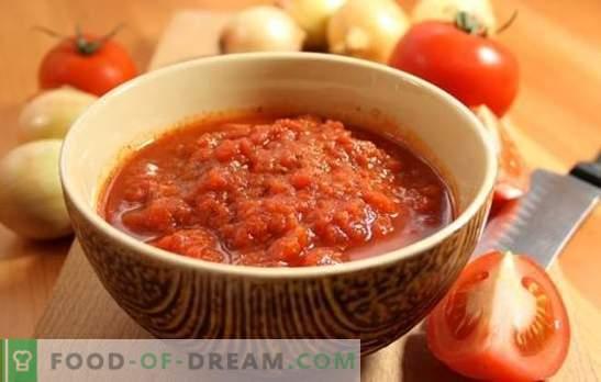 Adjika de tomates sin ajo para el invierno: reserva, no te arrepentirás! Una variedad de recetas adjika de tomates sin ajo para el invierno