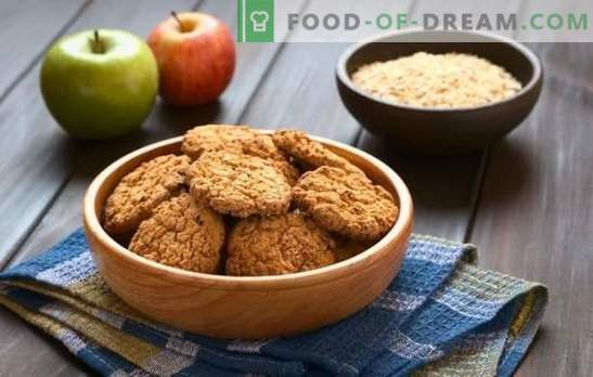 Lean piškoti iz ovsene moke so zdrava in okusna sladica. Kako narediti puste ovsene piškote z bananami, medom, suhim sadjem, oreški