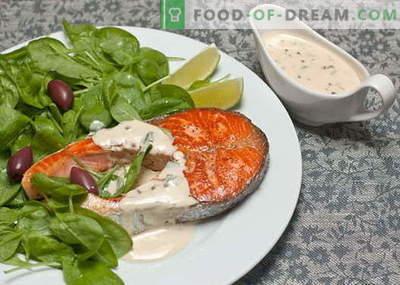 Ribje omake - najboljši recepti. Kako pravilno in kuhamo omako za ribe.