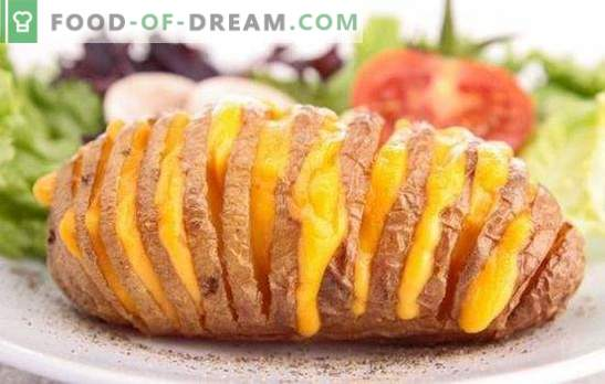 Печен компир во рерна со сирење - нездраво вкусно јадење. Најдобри рецепти за печен компир во рерна со сирење