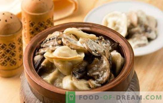 Кнедли кнедли печени во рерна - само вкусни. Рецепти кнедли во саксии со сирење, печурки, црн дроб, домат